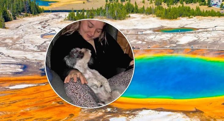 20-річна американка стрибнула в киплячий гейзер, щоб урятувати собаку. Фото