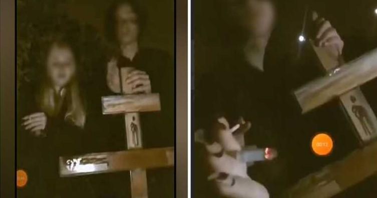 У Кривому Розі підлітки вирвали хрест на кладовищі для відео в інстаграм (фото, відео)